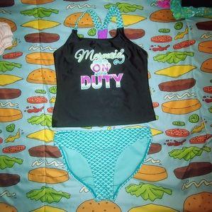 Wonder Nation girls tankini swim suit size 10/12